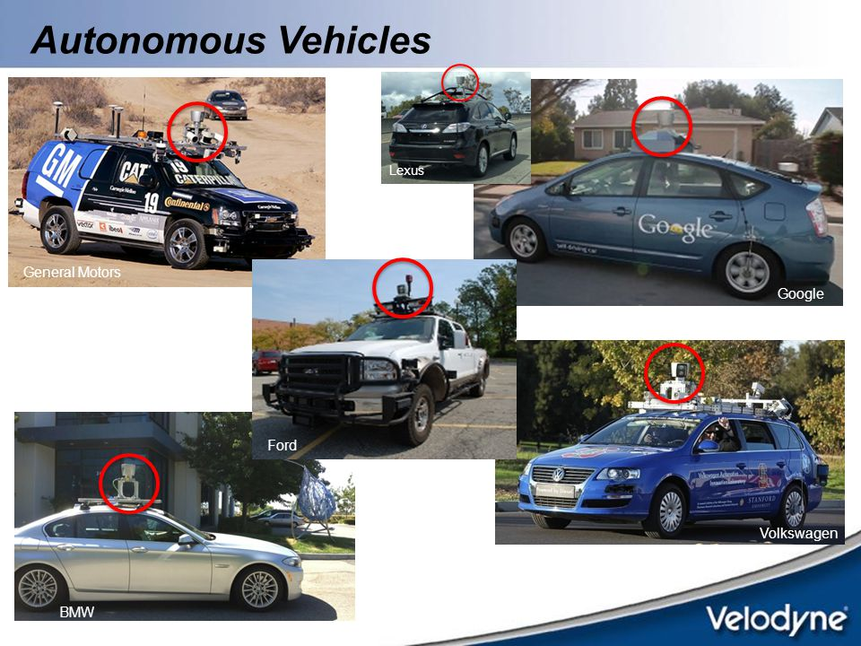 Autonomous Vehicles Lexus General Motors Google Ford Volkswagen BMW