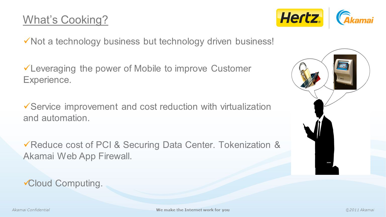 What's Cooking Not a technology business but technology driven business! Leveraging the power of Mobile to improve Customer Experience.