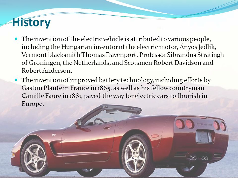 Seminar on electric car ppt download for History of the electric motor