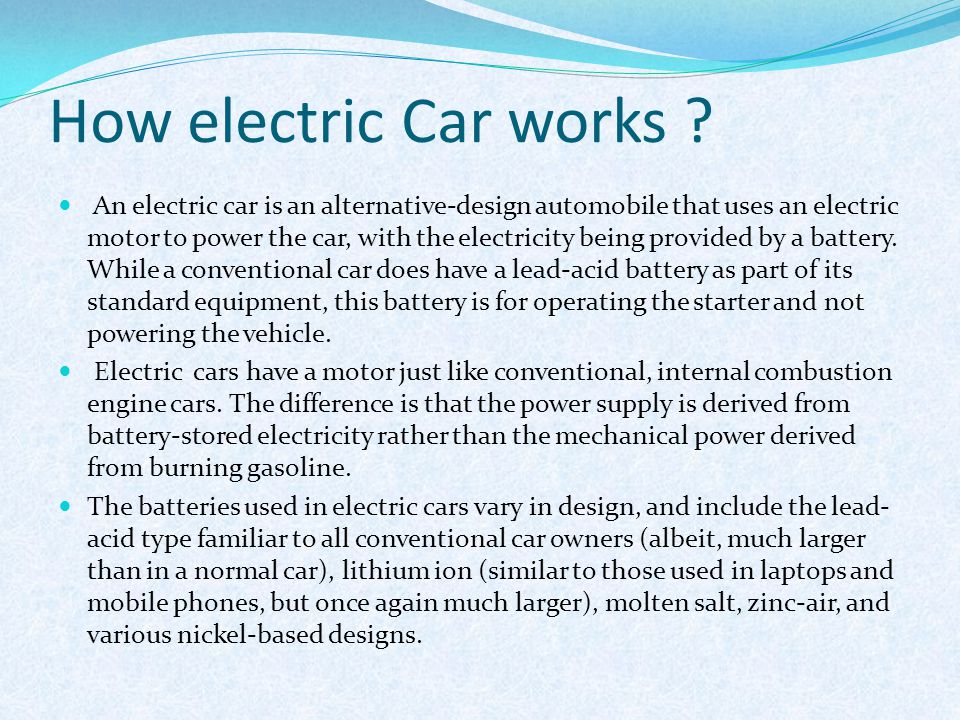 Seminar on electric car ppt download for How much is a motor for a car