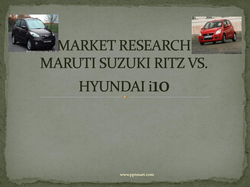 MARKET RESEARCH MARUTI SUZUKI RITZ VS. HYUNDAI i10