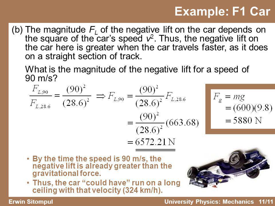 Example: F1 Car