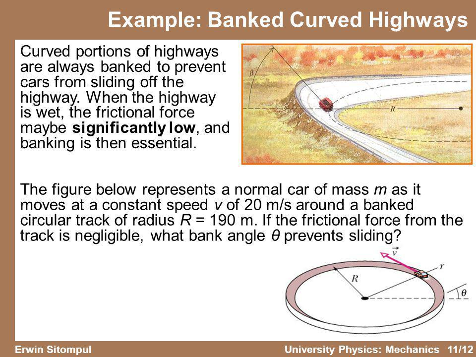 Example: Banked Curved Highways