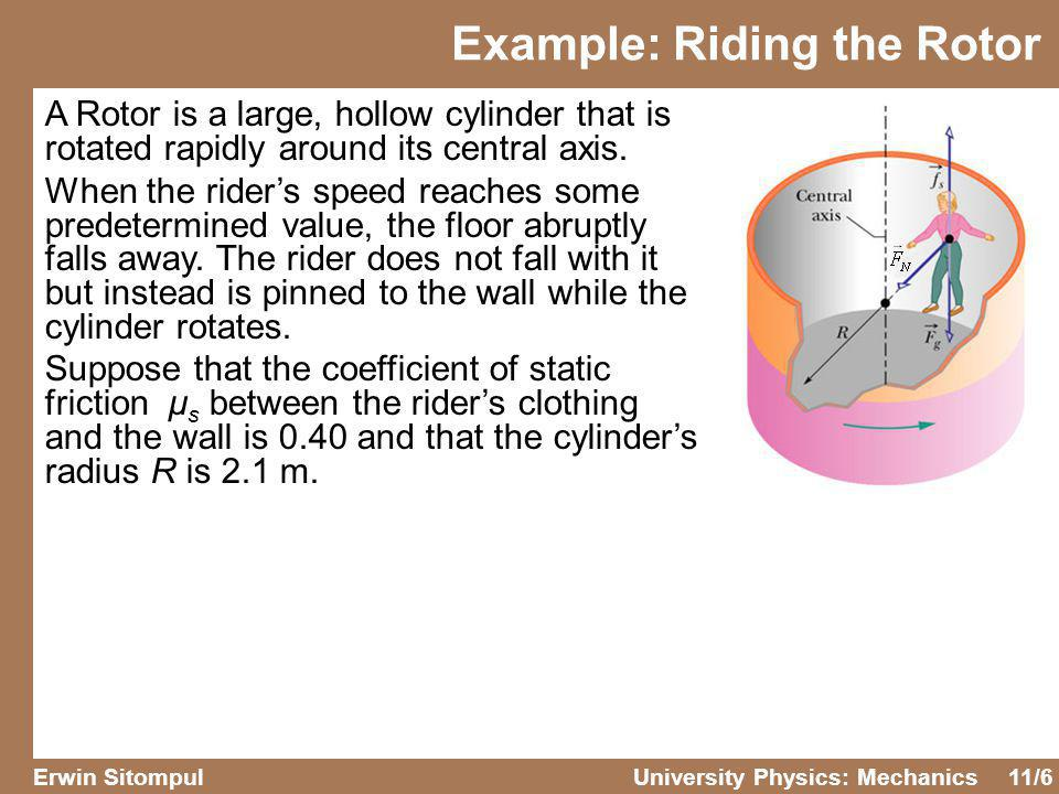 Example: Riding the Rotor