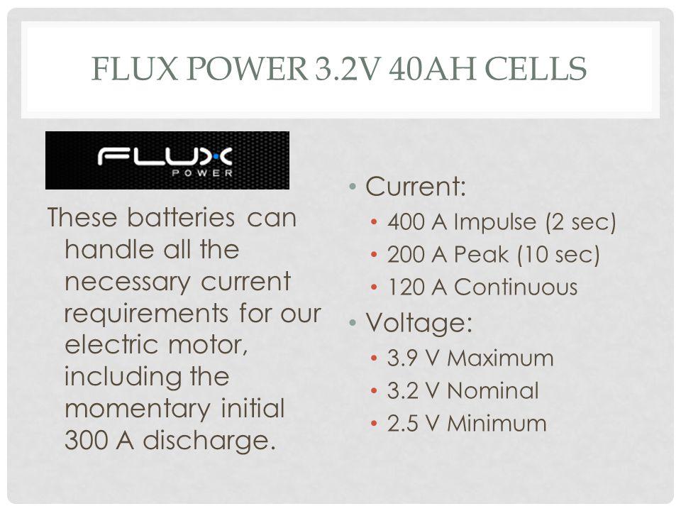 Flux Power 3.2V 40Ah Cells Current: