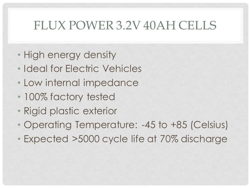 FLUX power 3.2V 40ah cells High energy density