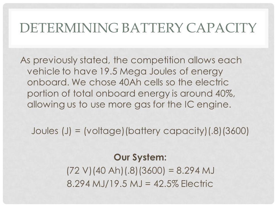 Determining battery capacity