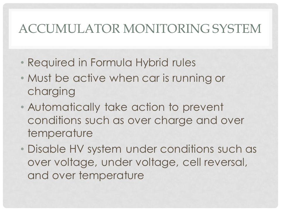 Accumulator Monitoring System
