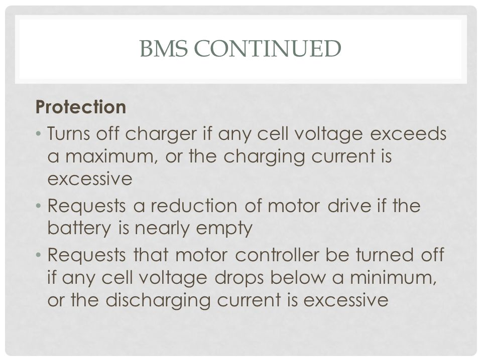 BMS Continued Protection