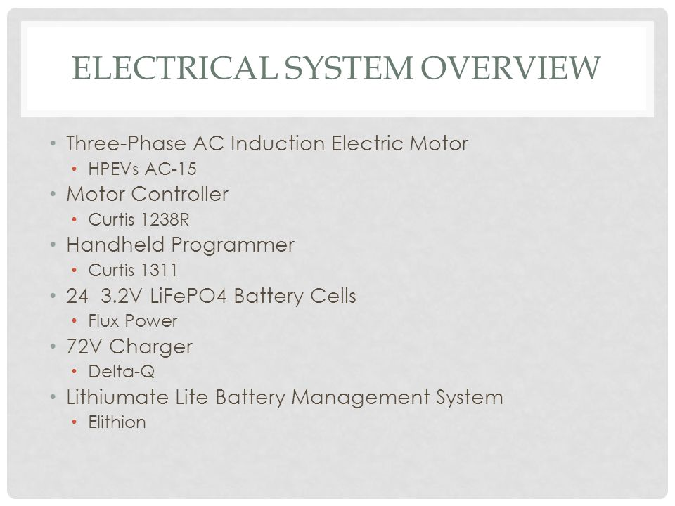 Electrical System Overview