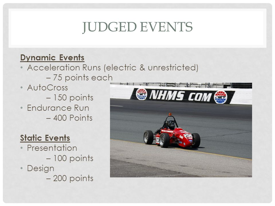 Judged Events Dynamic Events