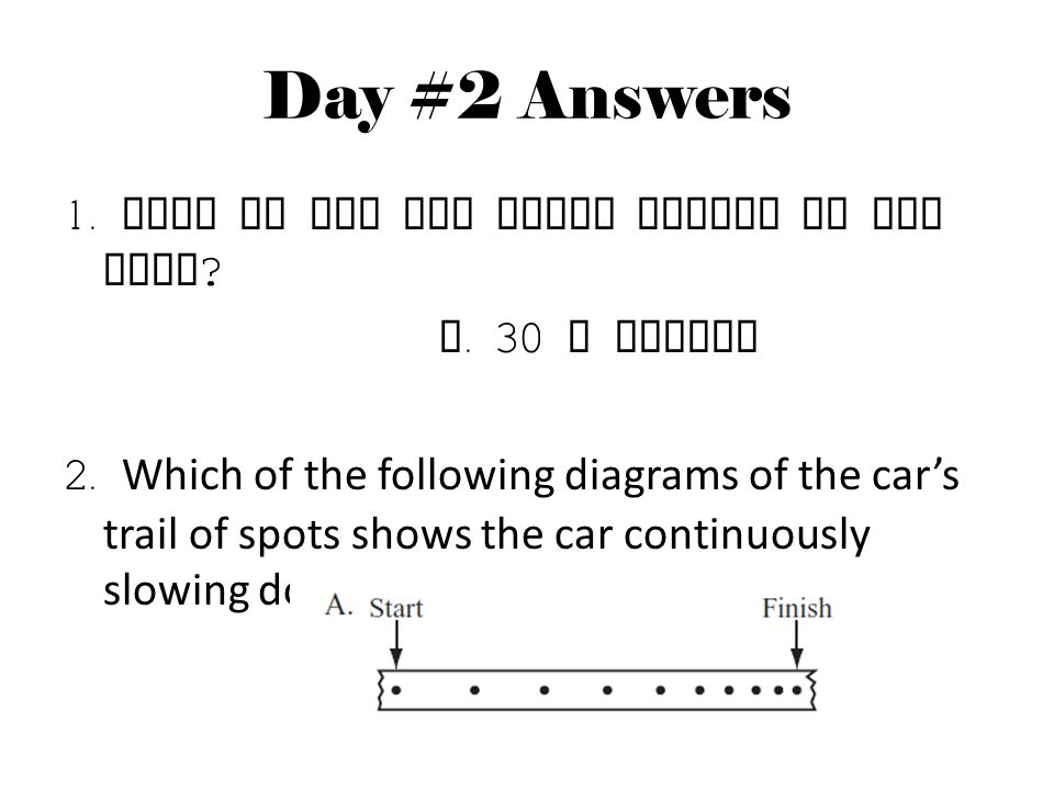 Day #2 Answers