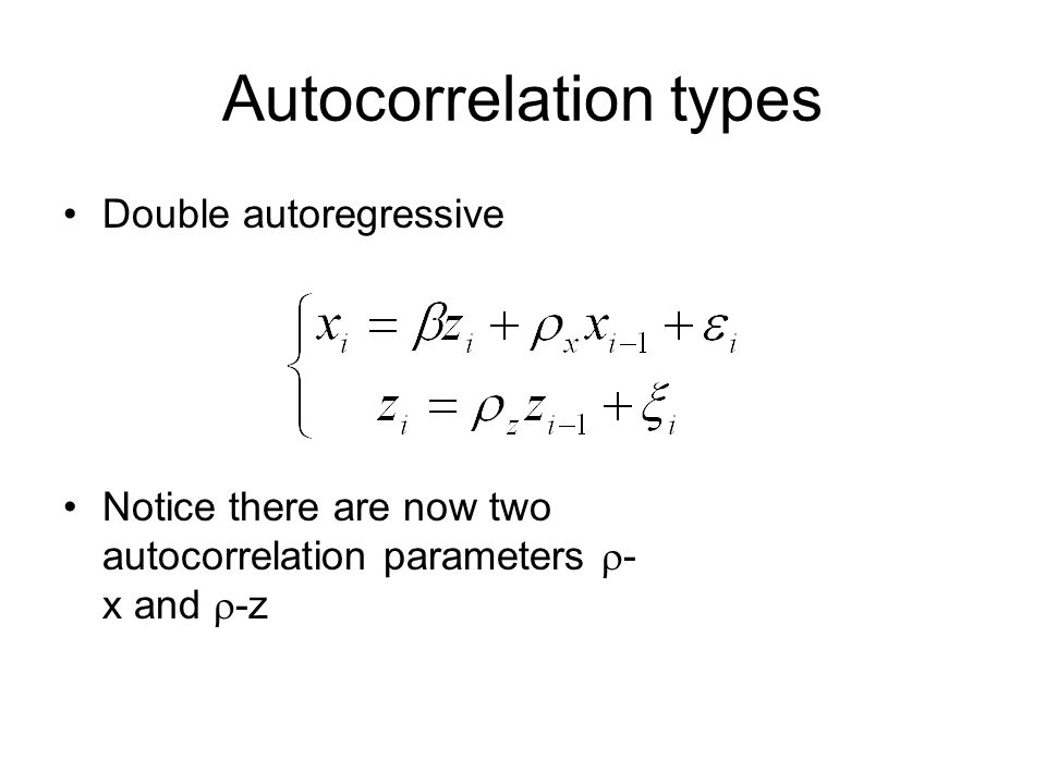Autocorrelation types