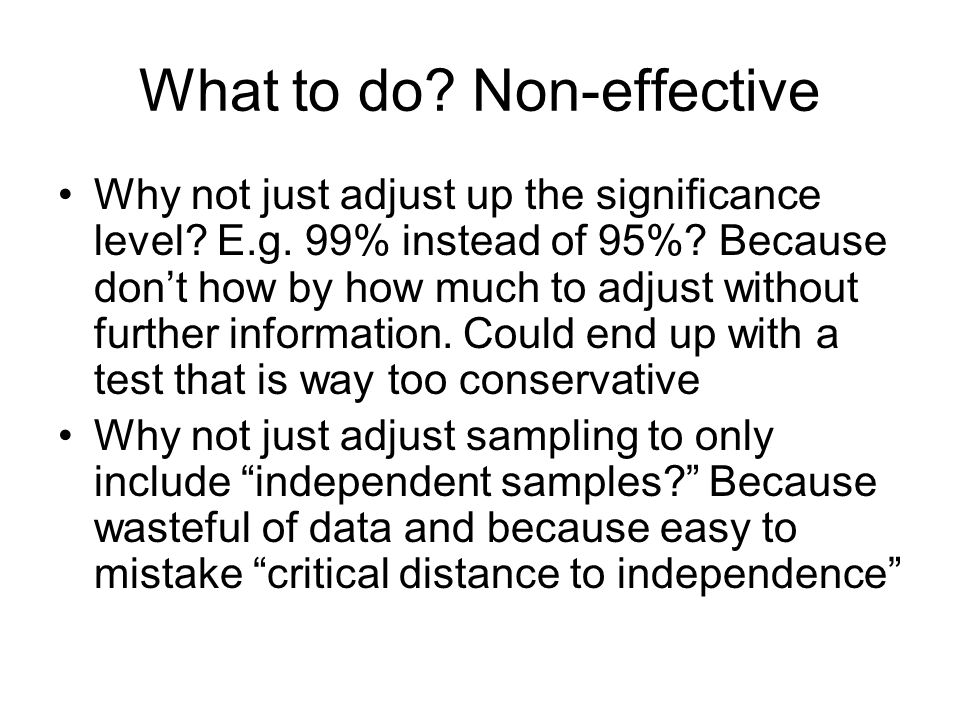 What to do Non-effective