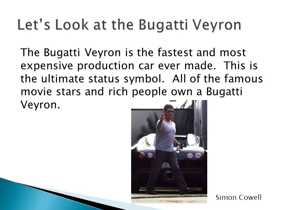 Let's Look at the Bugatti Veyron