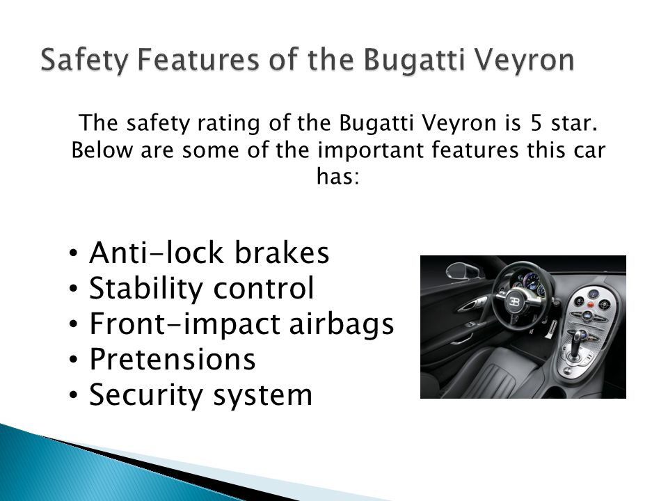 Safety Features of the Bugatti Veyron