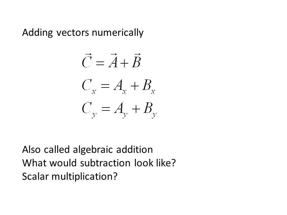 Adding vectors numerically