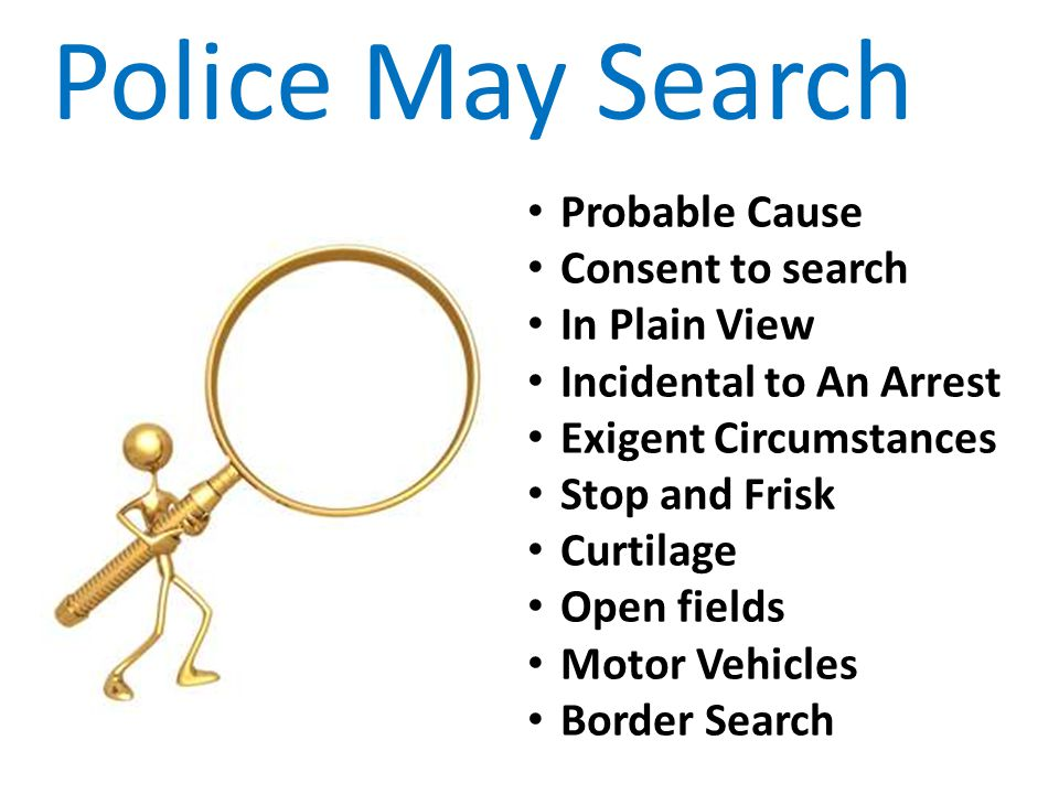 Police May Search Probable Cause Consent to search In Plain View