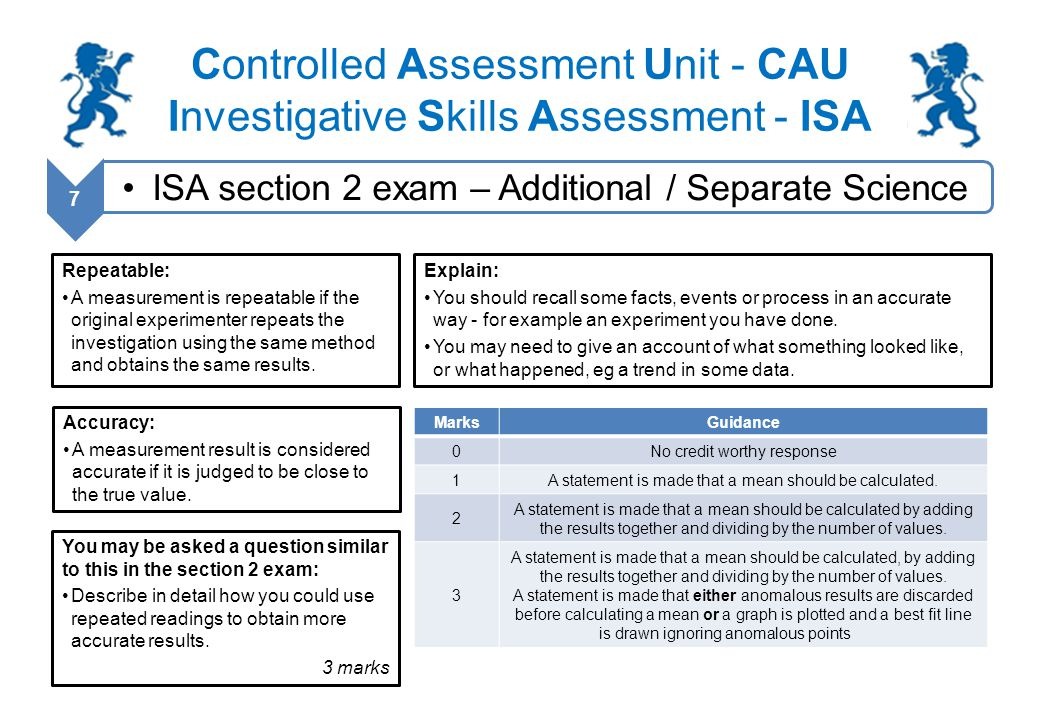 additional science controlled assessment Gcse science triple award science unit [isa] controlled assessment by a series of past paper questions & controlled activities • additional science.