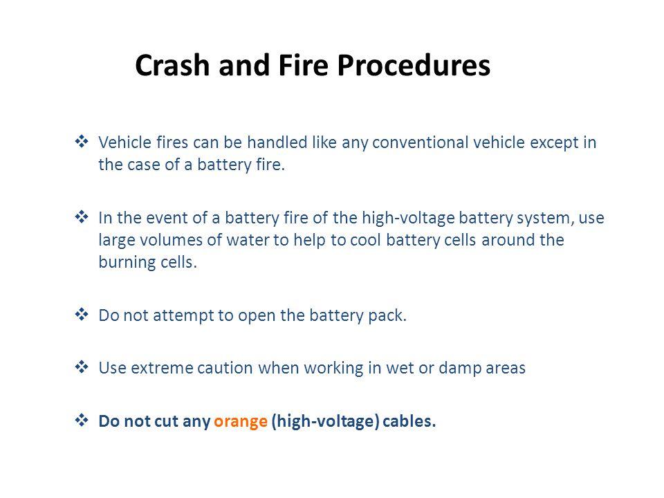 Crash and Fire Procedures