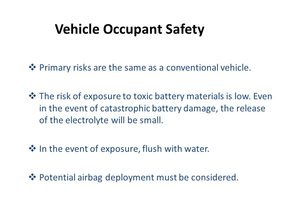 Vehicle Occupant Safety