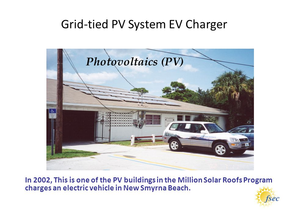 Grid-tied PV System EV Charger