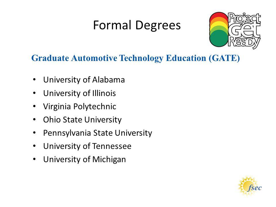 Graduate Automotive Technology Education (GATE)