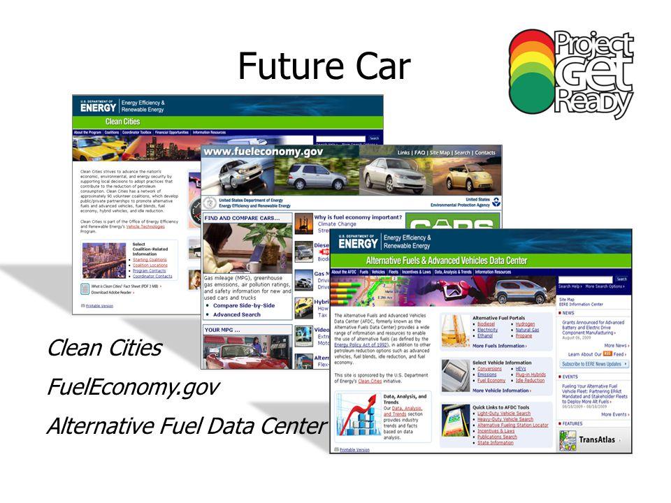 Future Car Clean Cities FuelEconomy.gov Alternative Fuel Data Center