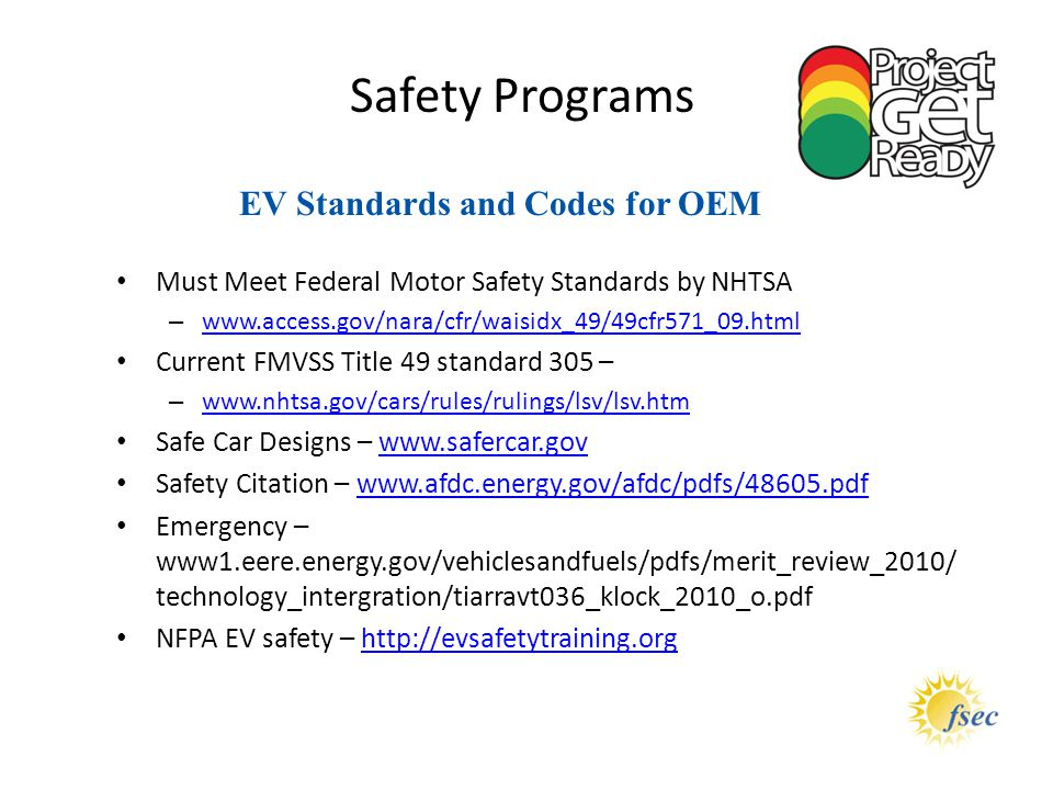 EV Standards and Codes for OEM