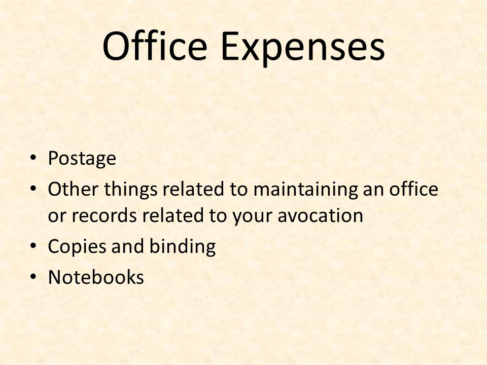 Office Expenses Postage