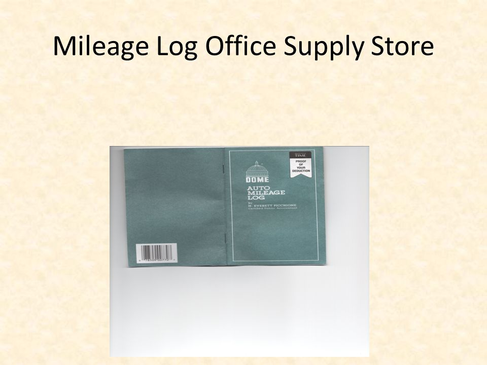 Mileage Log Office Supply Store