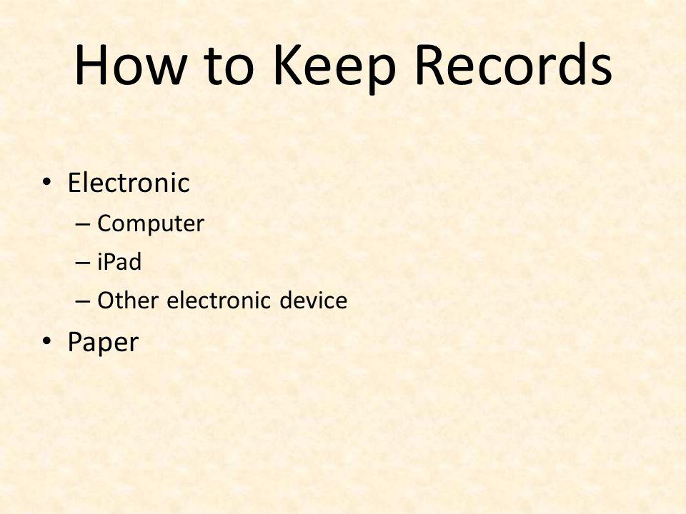 How to Keep Records Electronic Paper Computer iPad