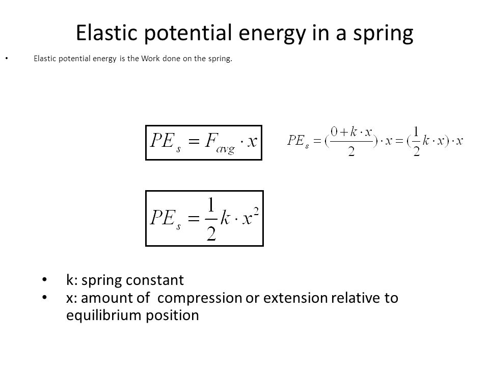 Elastic Potential Energy Definition Formula Amp Examples 2914170