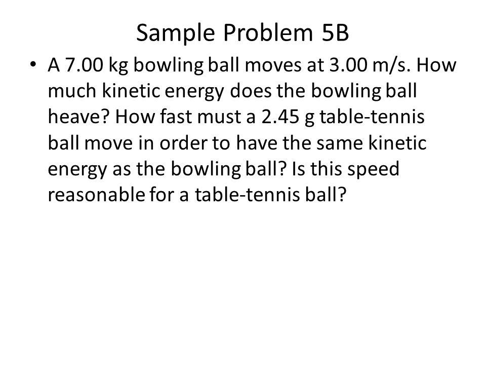 Sample Problem 5B