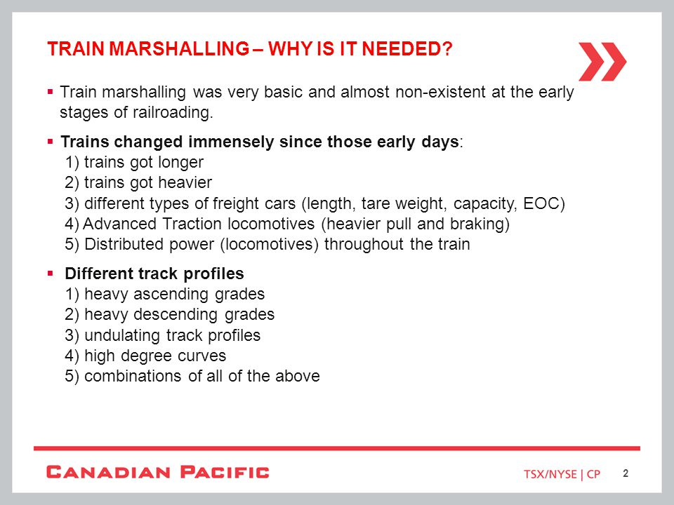 Train marshalling – why is it needed
