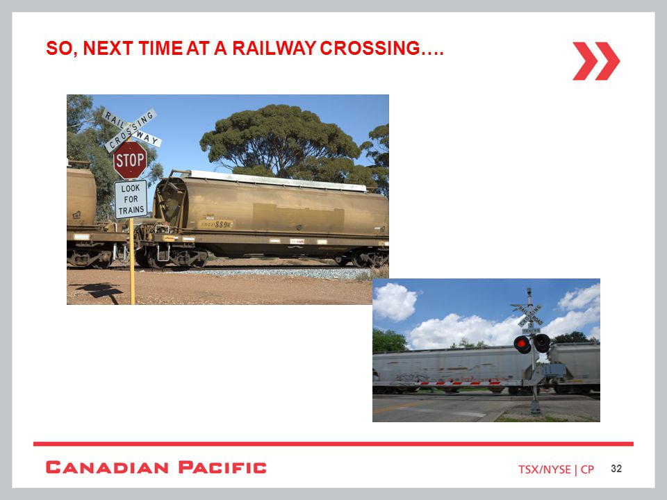 So, Next time at a railway crossing….