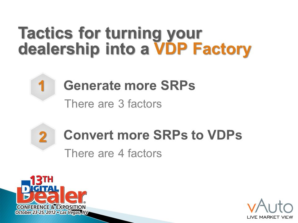Tactics for turning your dealership into a VDP Factory