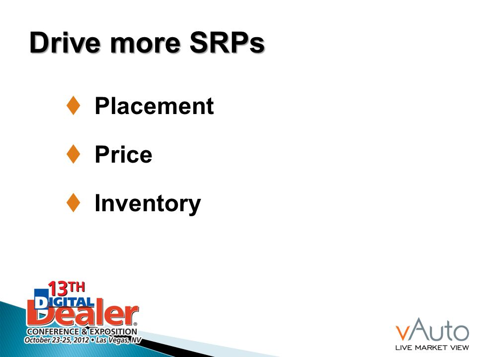 Drive more SRPs Placement Price Inventory