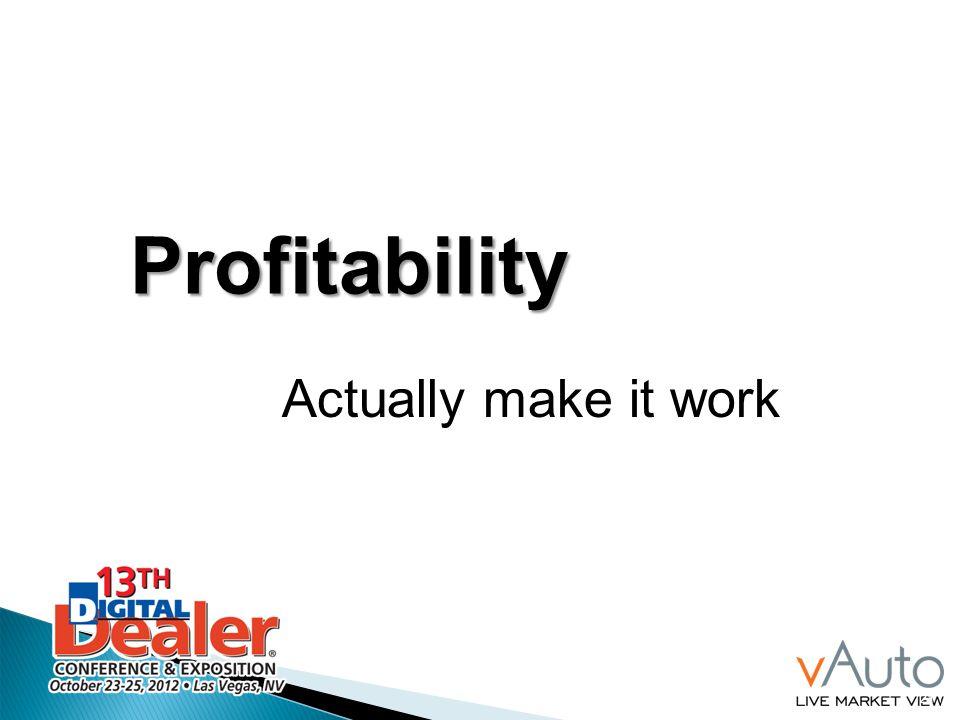 Profitability Actually make it work