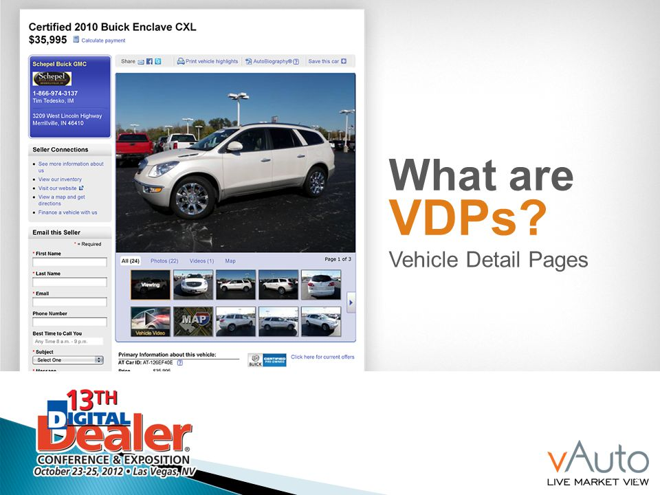 What are VDPs Vehicle Detail Pages