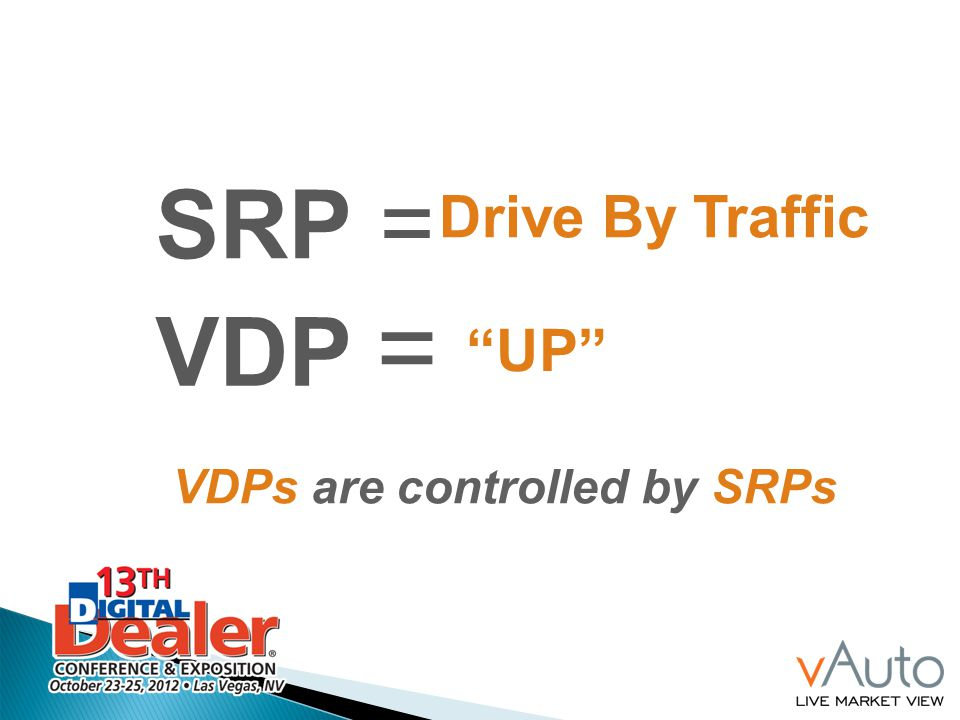 VDPs are controlled by SRPs