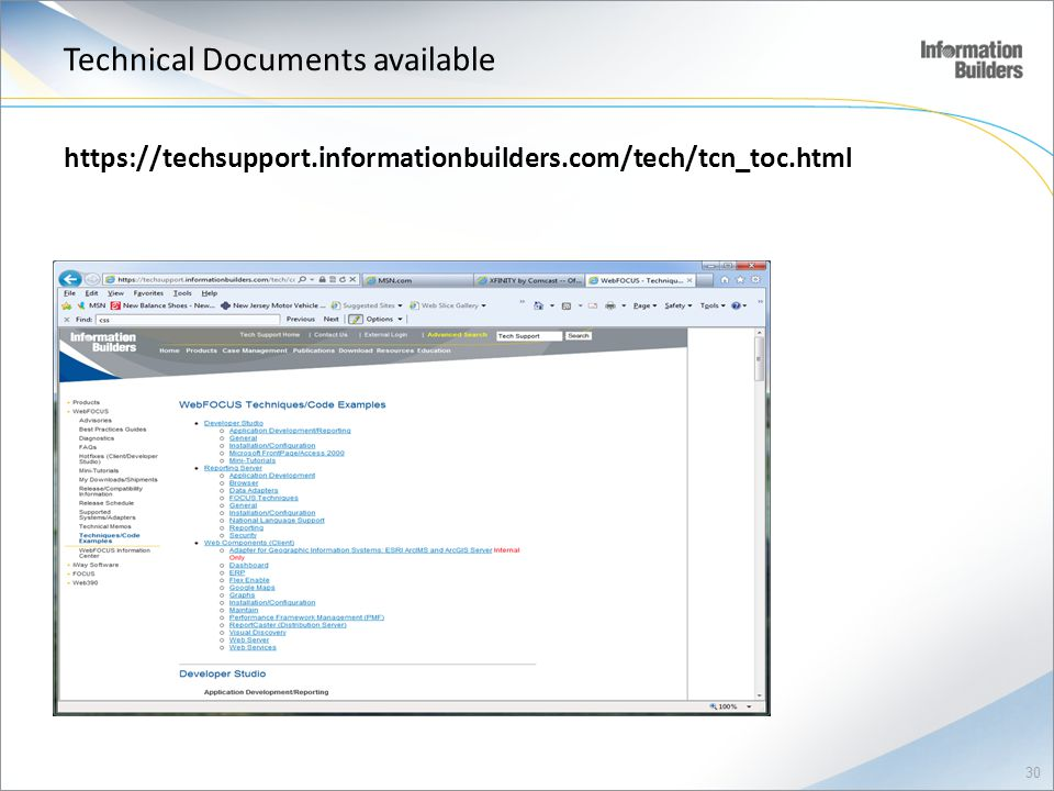 Technical Documents available
