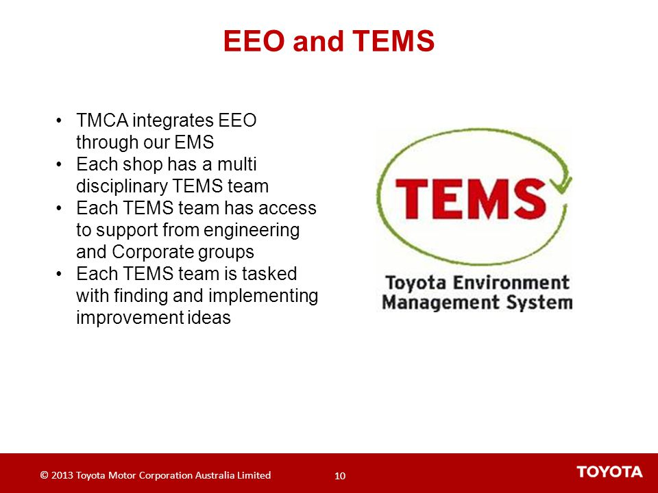 EEO and TEMS TMCA integrates EEO through our EMS