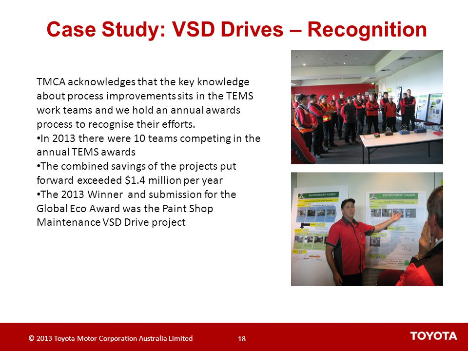 Case Study: VSD Drives – Recognition