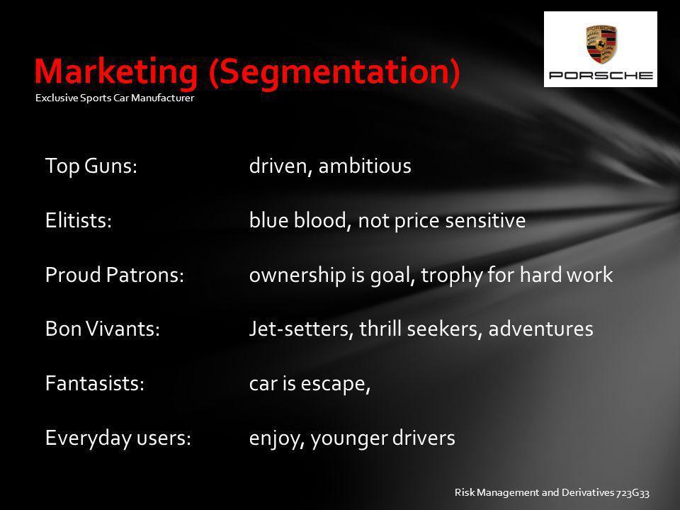 Marketing (Segmentation)
