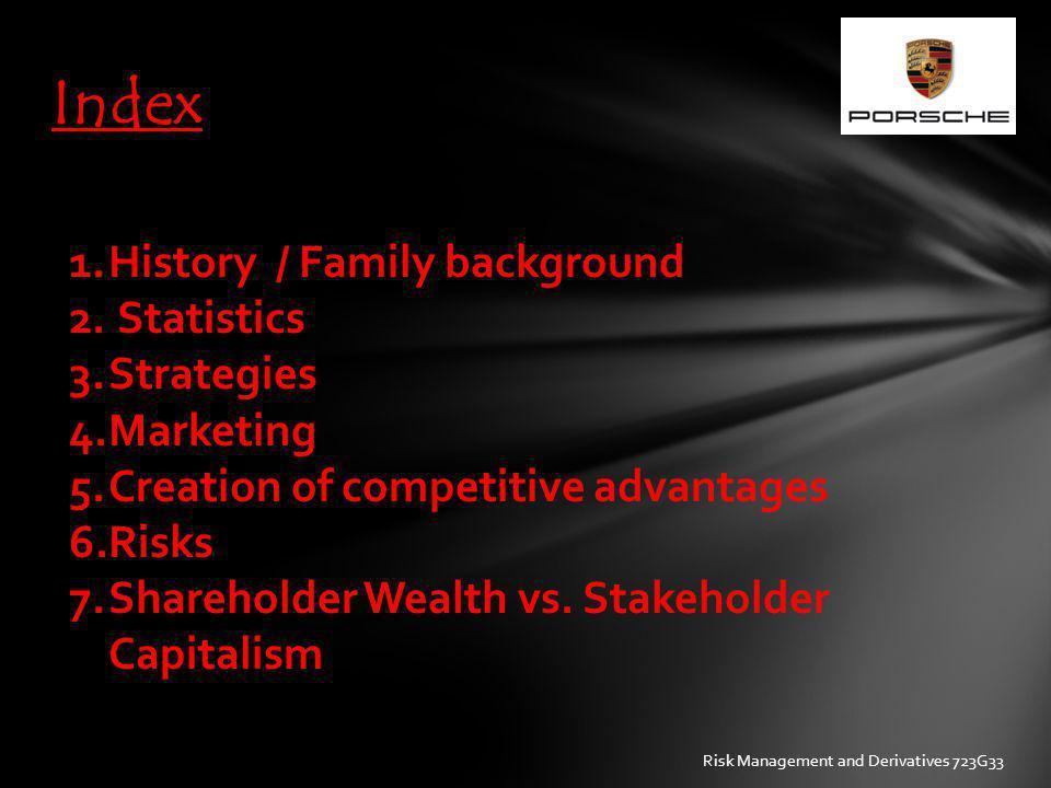 Index History / Family background Statistics Strategies Marketing