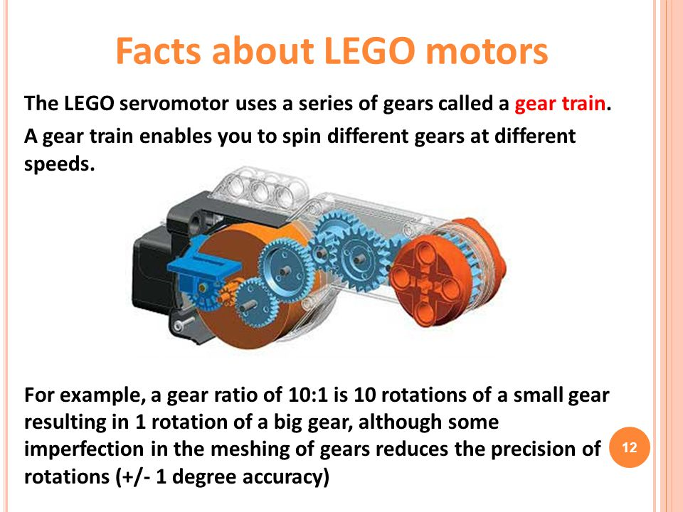 Facts about LEGO motors