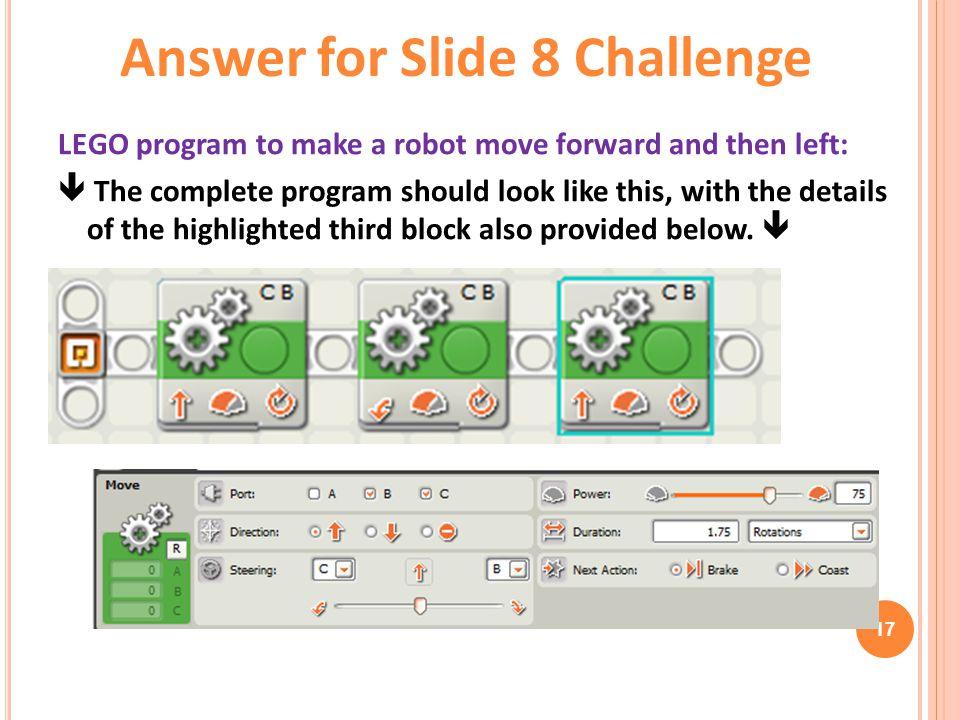 Answer for Slide 8 Challenge