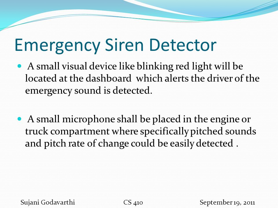 Emergency Siren Detector