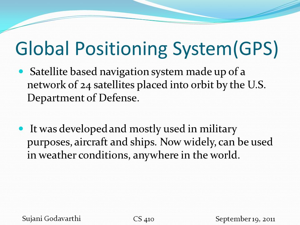 Global Positioning System(GPS)